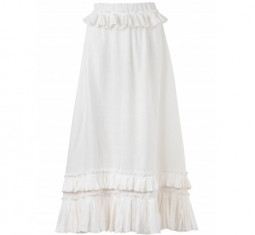 Nostalgia Pleated Linen Maxi Skirt by WaiMari