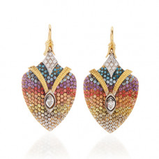 ele karela serpent drops multi stone earrings