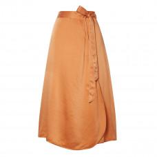 forte forte hammered silk satin wrap skirt