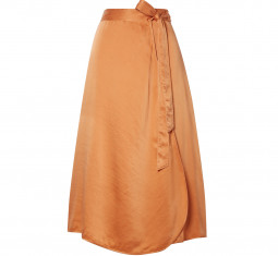 Hammered Silk-Satin Wrap Skirt by Forte_Forte