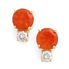 jemma wynne fire opal and diamond studs