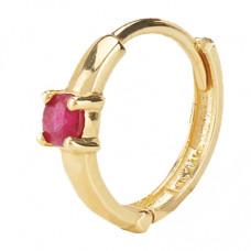 mejuri colored mini hoop earring