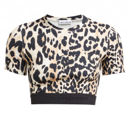 Leopard-Print Stretch-Jersey Crop Top by Paco Rabanne