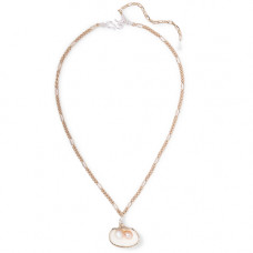 wald berlin drop it like its hot gold-plated shell and pearl necklace