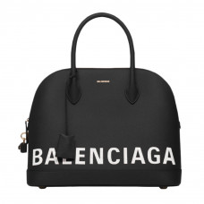 balenciaga ville top handle m black