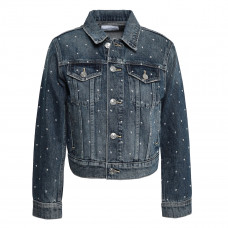 current elliott cropped studded denim jacket