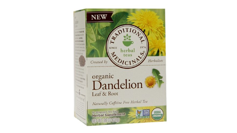 traditional medicinals dandelion leaf and root herbal tea