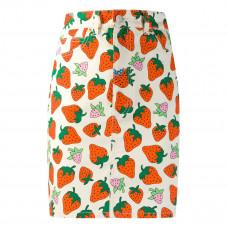 gucci denim strawberry skirt