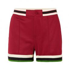 gucci grosgrain trimmed jersey shorts