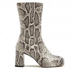 miista carlota leather boot in snake multi