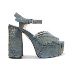 miu miu denim platform sandals