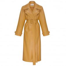ochi ochiss1914 corn yellow eco leather trench coat