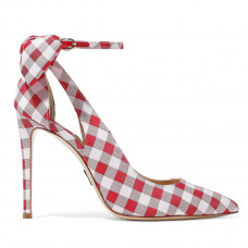 paul andrew fiona bow embellished gingham canvas pumps