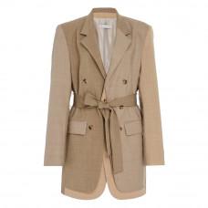 rejina pyo elliot belted wool blend jacket