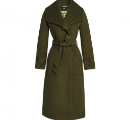 Long Wide Collar Wrap Coat by Sentaler