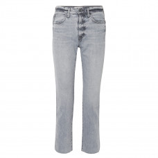 slvrlake hero cropped frayed high rise straight leg jeans