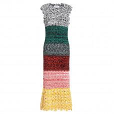sonia rykiel pointelle knit midi dress