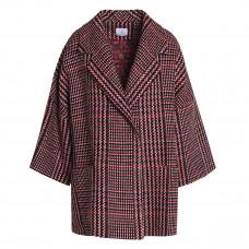 stella jean oversized tweed coat