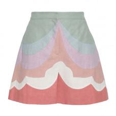 valentino color block linen shorts
