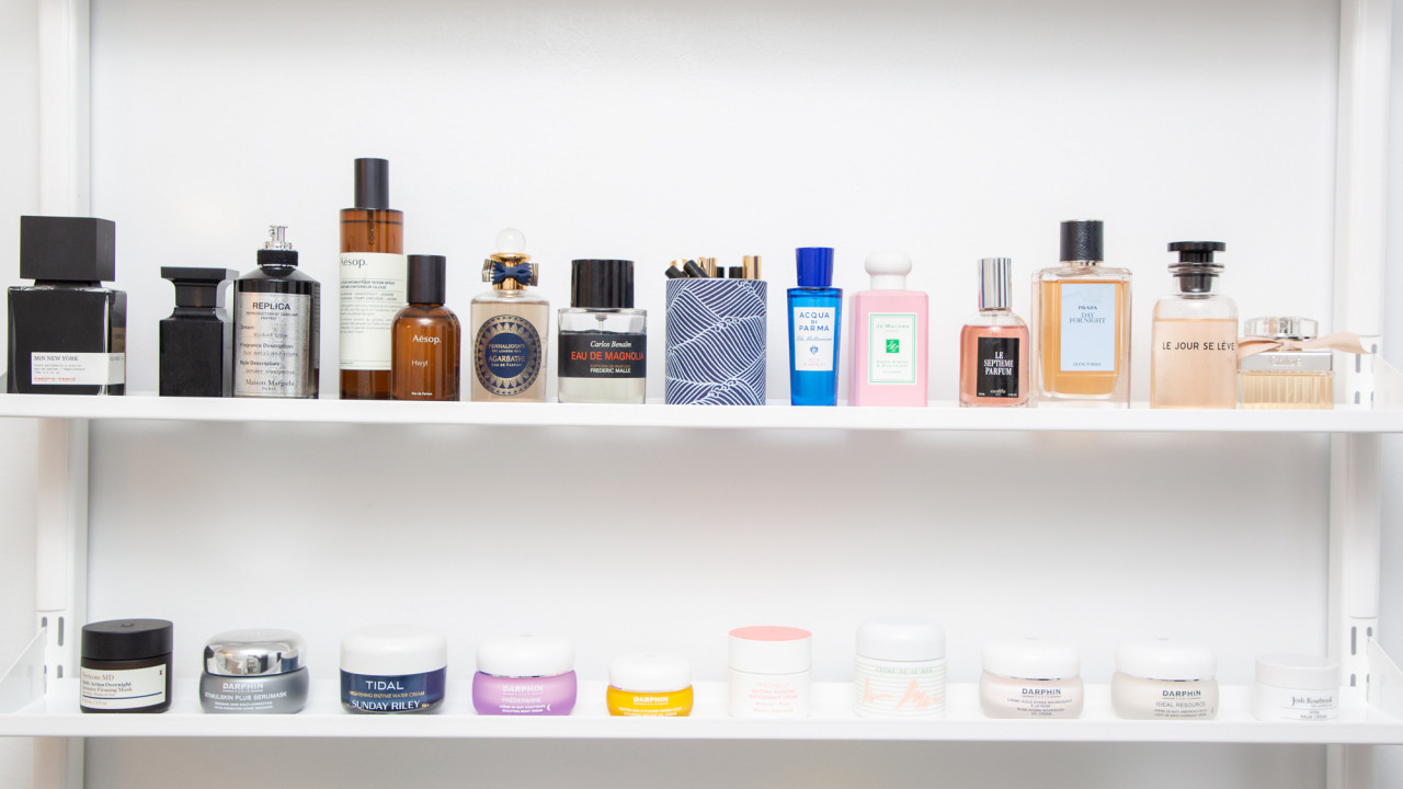 how to organize beauty products tips