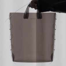 aetelier zip tied tote smoke