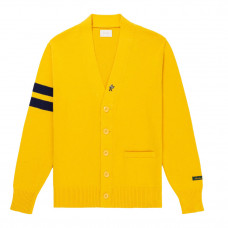 aime leon dore cardigan sweater yellow