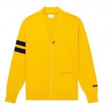 aime leon dore cardigan sweater yellow