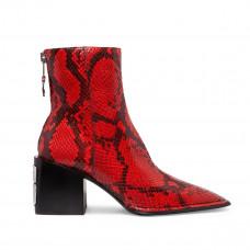 alexander wang parker snake effct leather ankle boots