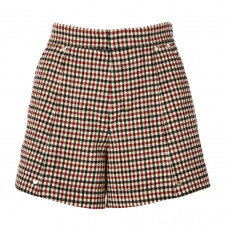 chloe wool high waisted shorts in check print