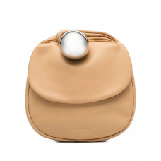 jil sander sphere leather clutch bag