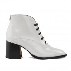 labucq jil white patent boots