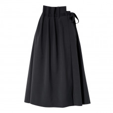 le 17 septembre asymmetric woven wrap skirt