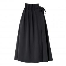 le 17 septembre asymmetric woven wrap skirt
