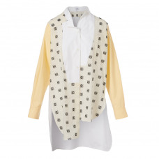 loewe cotton asymmetric shirt in logo print