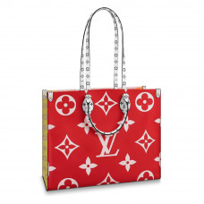 louis vuitton onthego monogram giant red pink