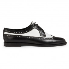 manolo blahnik lollo leather derby brogues