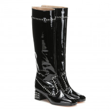 maryam nassir zadeh kiki patent leather knee high boots