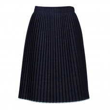 mm6 maison margiela cotton blend pleated skirt