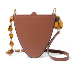 Cyssus Leather and Resin Shoulder Bag by Naturae Sacra