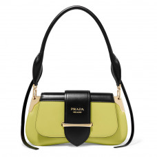 prada sidonie two tone leather shoulder bag