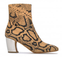 Snake-Effect Leather Ankle Boots by Proenza Schouler
