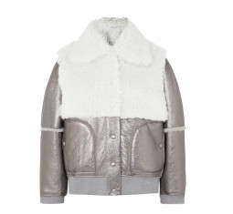 Shearling-Paneled Metallic Leather Jacket by SEE BY CHLOÉ