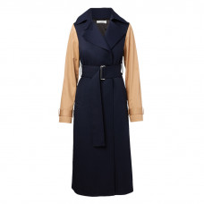 victoria beckham wool long coat