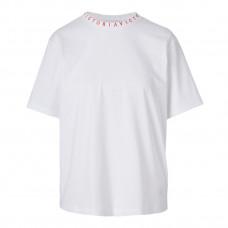 victoria victoria beckham cotton logo t shirt