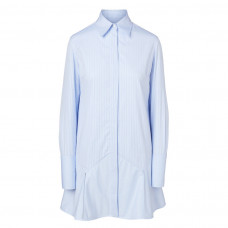 victoria victoria beckham cotton shirt dress in stripe print