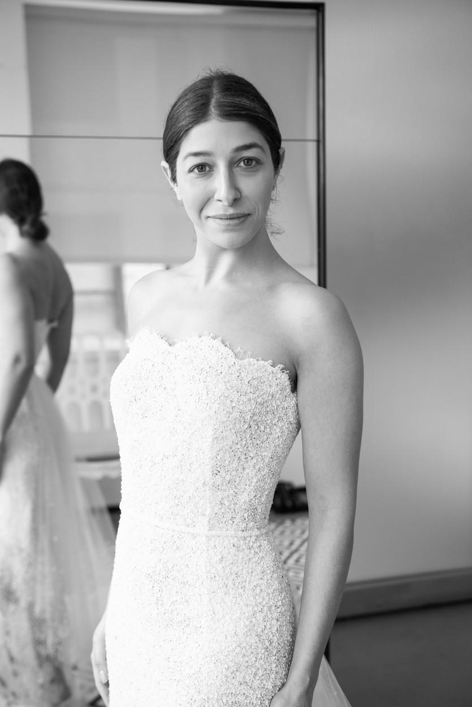 custom oscar de la renta wedding dress