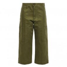 acne studios cropped cotton twill wide leg pants