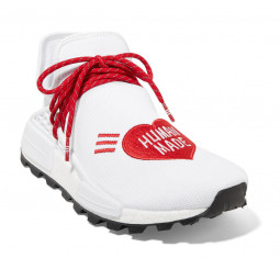 + Pharrell Williams + HUMAN MADE NMD Hu Appliquéd Stretch-Knit Sneakers by Adidas