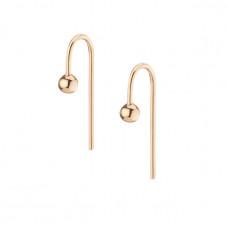 aurate short gold ball hook earrings
