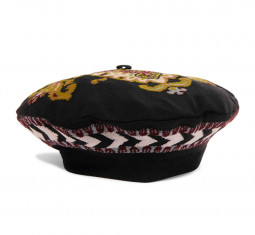 Intarsia Wool Blend Beret by Etro